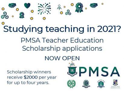 PMSA Teacher Education Scholarships for 2021 now open